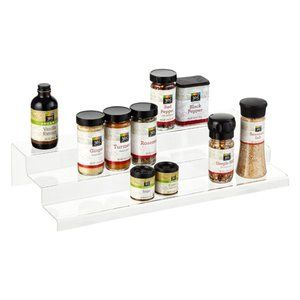 Clear 3-Tier Acrylic Cabinet & Spice Organizer